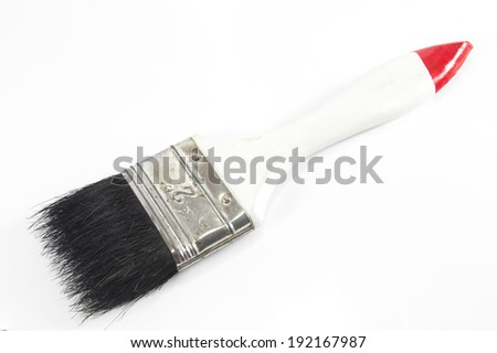 Paint brush isolated on a white background - stock photo