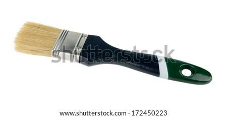 Paint brush isolated on white background - stock photo