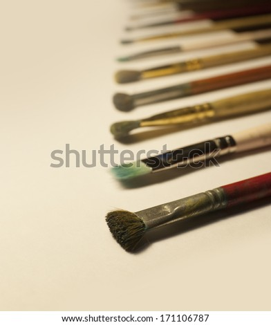 Paint brushes - stock photo