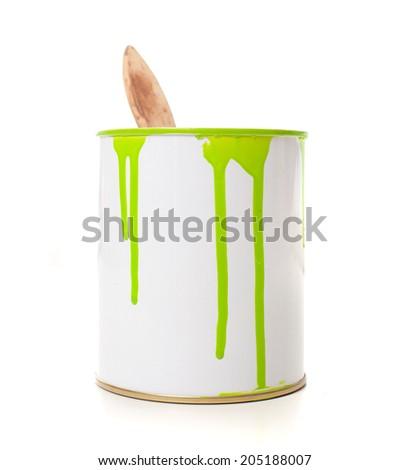 paint bucket - stock photo