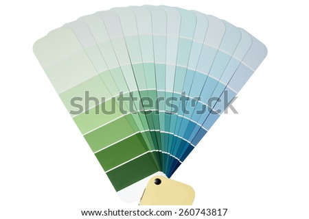 Paint Chip Samples - stock photo