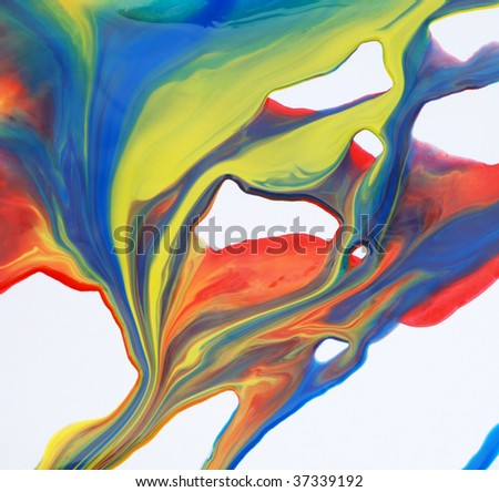 paint flowing - stock photo