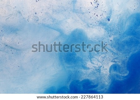 Paint in water - abstract background - stock photo
