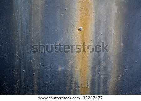Paint on steel surface - stock photo