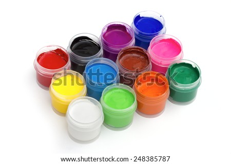 paint on the white background - stock photo