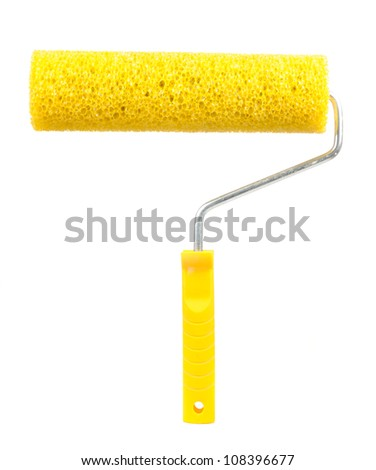 Paint Roller Isolated on White Background - stock photo