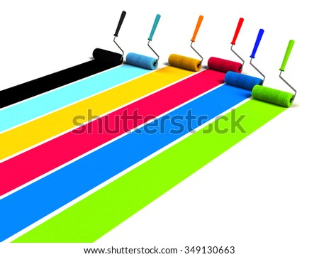 Paint rollers - stock photo