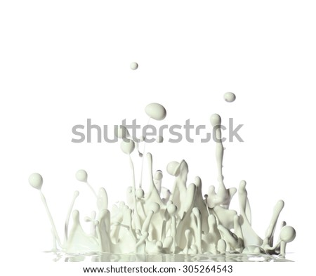 Paint Splash in White Background - stock photo