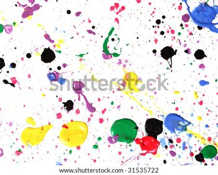 Paint splatter - stock photo