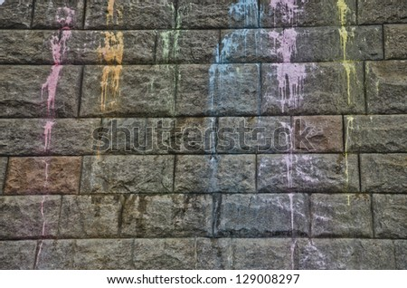 paint splatters on the wall - stock photo