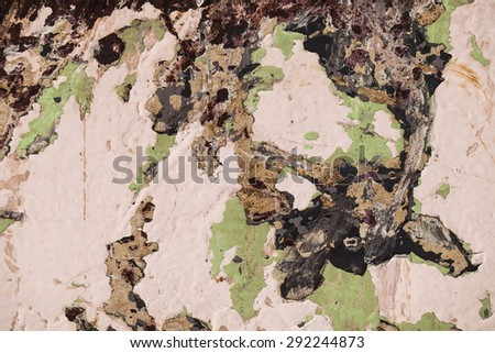 paint texture background. grunge rusty metal with cracked paint. abstract green painting. - stock photo