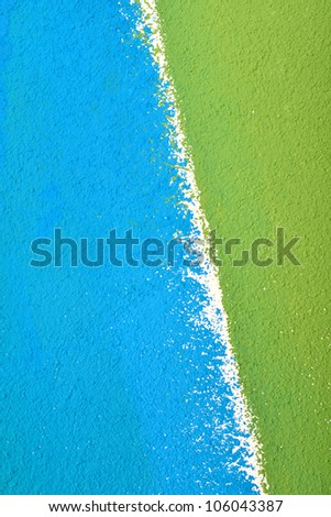 paint wall color background blue green  real texture isolated on white with copy space - stock photo