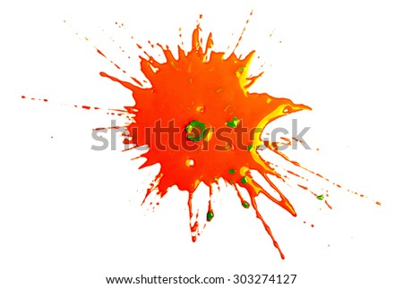 Paintball Blob - stock photo