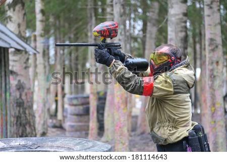 Paintball fire - stock photo