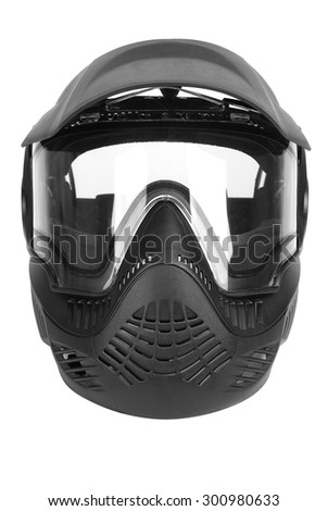 Paintballing, Face Guard - Sport, Protective Mask - Workwear, Safety, Protection - stock photo