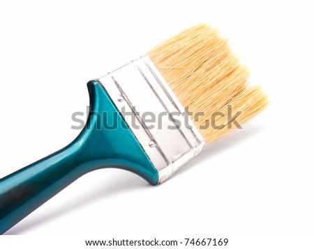 Paintbrush isolated on white. - stock photo
