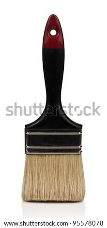 Paintbrush isolated on white - stock photo