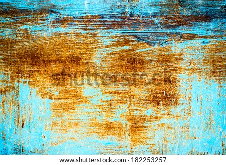 Painted and scratched rusty surface metal - stock photo