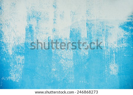 Painted blue on the wall - stock photo