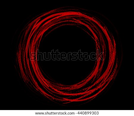 Painted design element. Circle banner. Red  watercolor. Abstract hand painted backgrounds. - stock photo