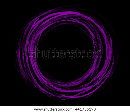 Painted design element. Circle banner. violet watercolor. Abstract hand painted backgrounds. - stock photo