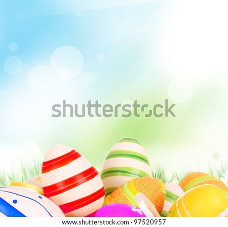 Painted Easter Eggs - stock photo