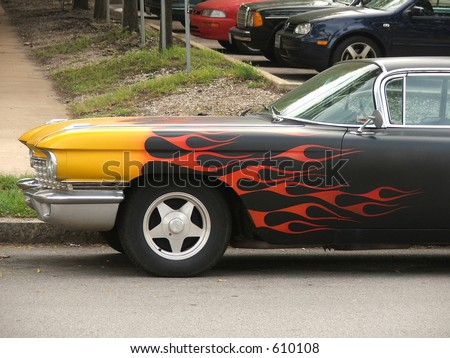 painted flames - stock photo