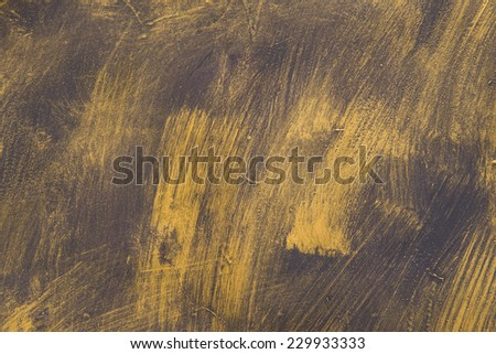 Painted Gold on metal texture for background. - stock photo