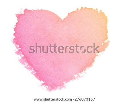 painted heart symbol of love - stock photo