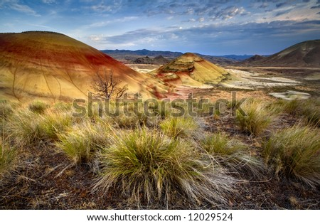 Painted Hills Oregon - stock photo