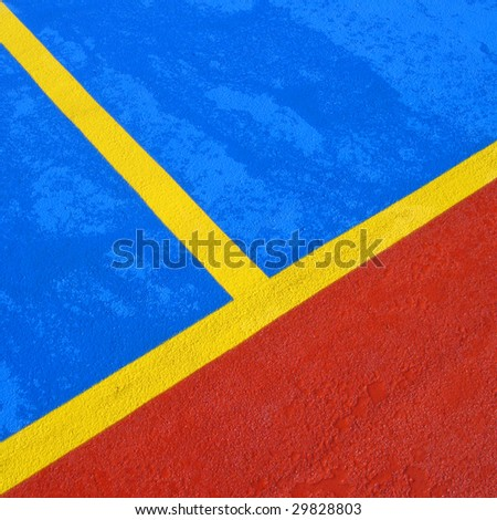 painted lines - stock photo