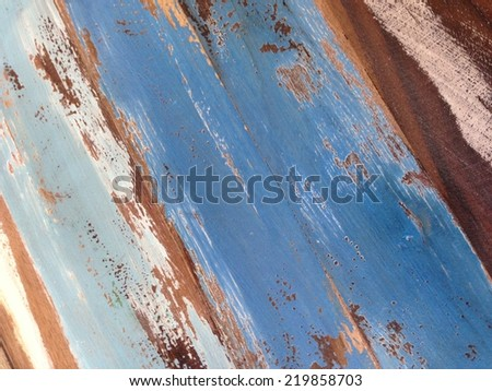 Painted timber   - stock photo