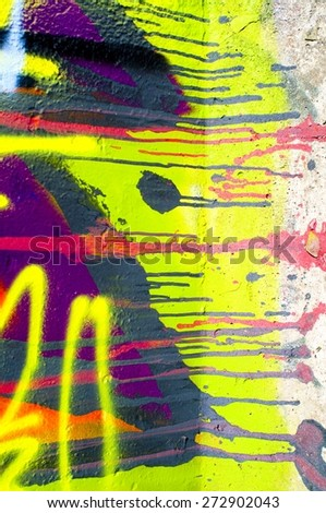 painted wall - stock photo