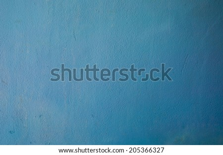 painted wall texture, light blue - stock photo