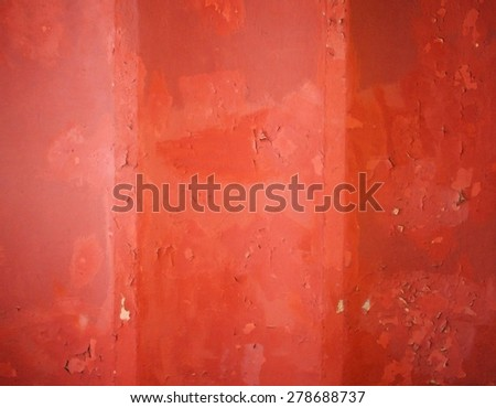 Painted wall with cracks and scratches - stock photo