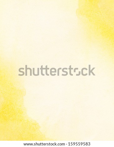 painted watercolor sun, sunlight, water as background - stock photo