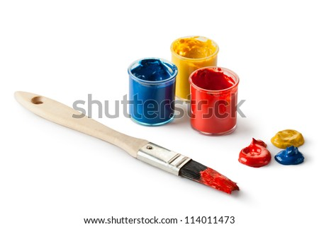 Painter set. Isolated on a white. - stock photo
