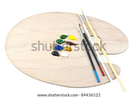 Painting brushes - stock photo