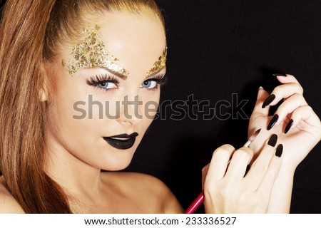 Painting the nails  - stock photo