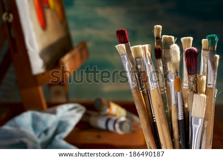 Painting Tools - stock photo