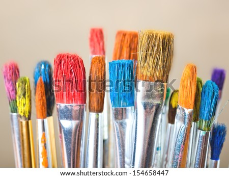 Paints  - stock photo