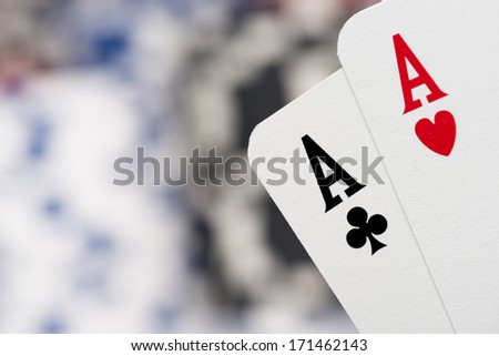 pair of aces - stock photo