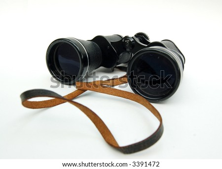 Pair of Binoculars Isolated - stock photo