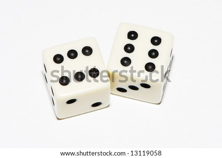 Pair of dice 6x6 - stock photo