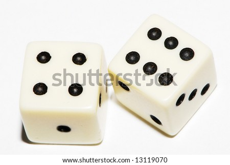Pair of dice 6x4 - stock photo