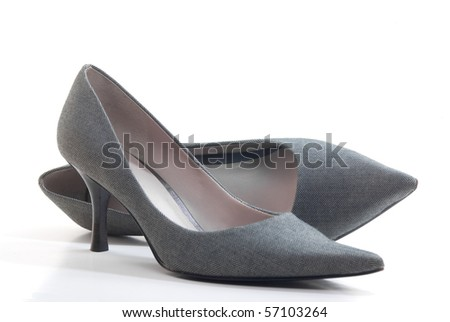 Pair of high heel shoes - stock photo