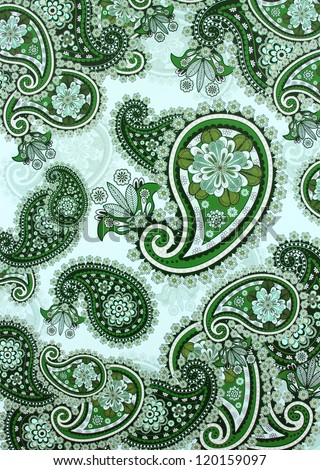 Paisley Design Texture Background - stock photo