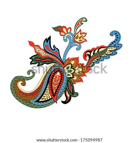 Paisley Ornament. Raster illustration. - stock photo