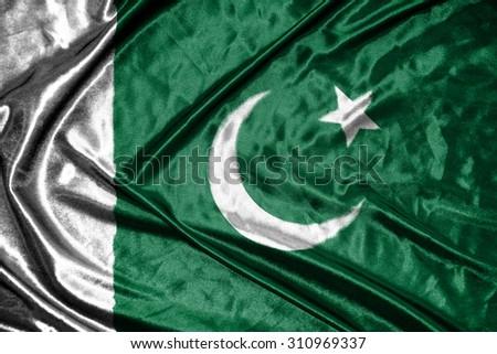 pakistan flag - stock photo
