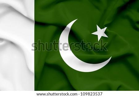 Pakistan waving flag - stock photo